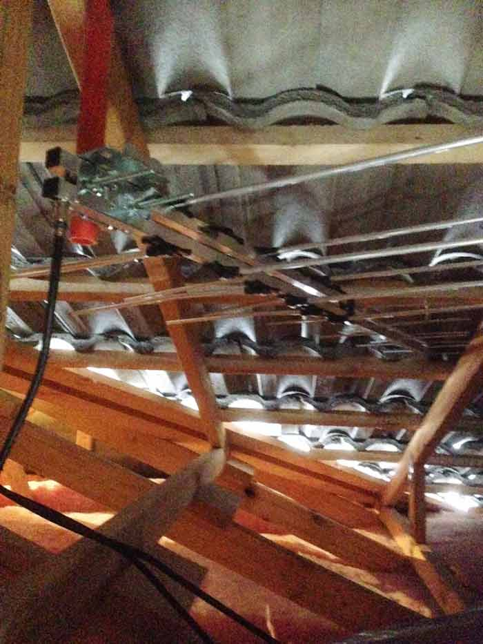 Antenna Installation in Roof Cavity